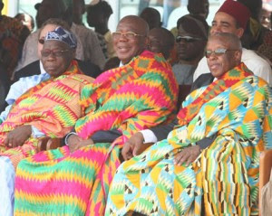 Kente for three presidents