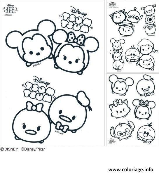 Coloriage Disney Tsum Tsum Jecoloriecom