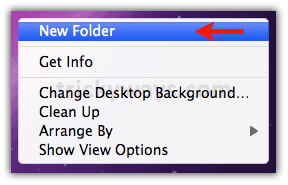 Create a new file  mac