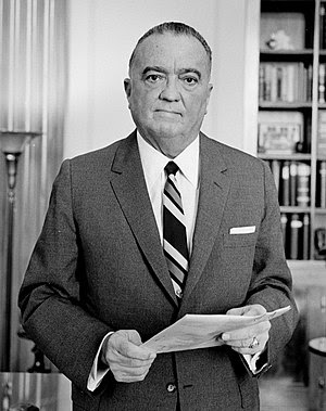 J. Edgar Hoover, director of the F.B.I, photog...