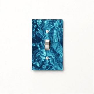 Blue Abstract Light Switch Covers