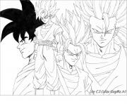 Coloriage Dragon Ball Z Sangoku Super Sayen 10 Jecoloriecom