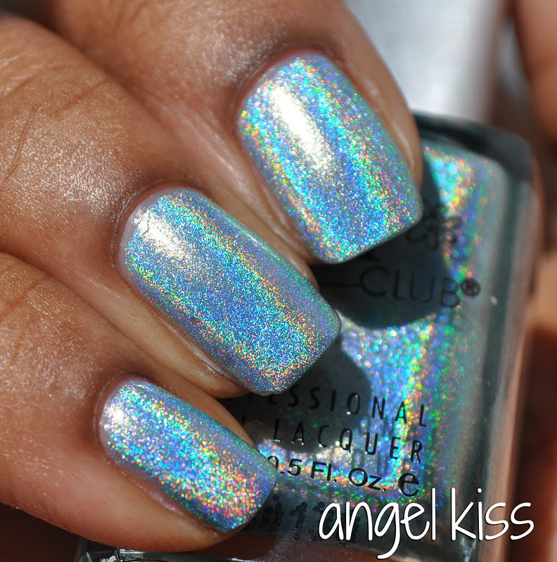 blue holographic polish