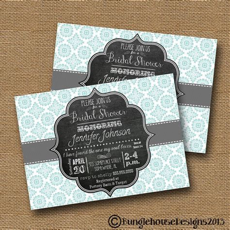 "Bridal Shower Wedding Invitation DIY PRINTABLE ""Blue"