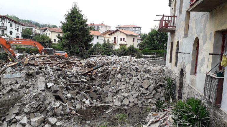 Derribo de casas en el ámbito de Alarde-Olaketa