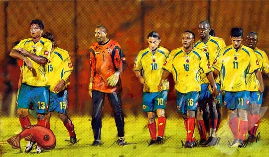 Selección Colombia por Hache Holguín