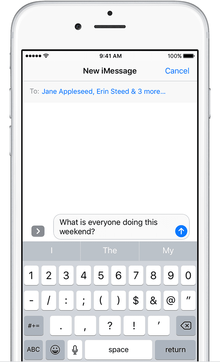 Send a group message on your iPhone, iPad, or iPod touch ...