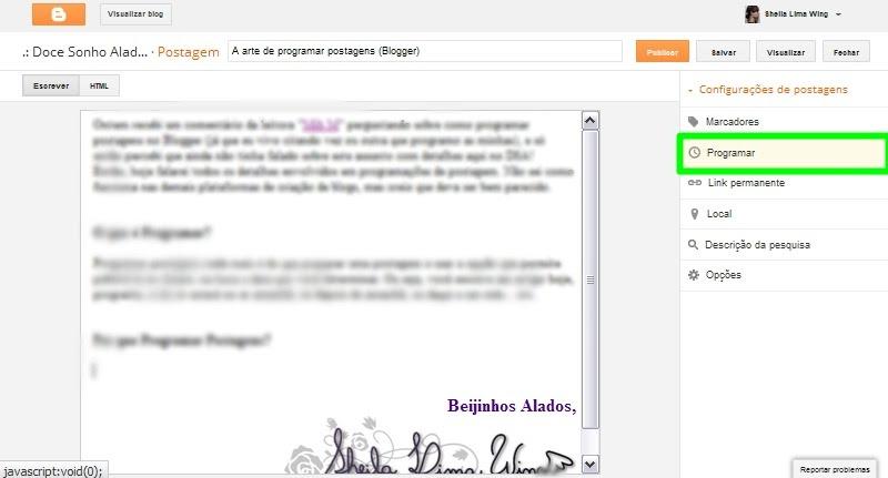 Programar Postagens Blogger