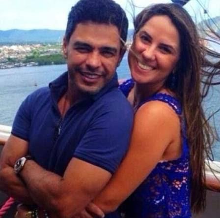 Zezé e Graciele em foto publicada por ela