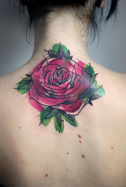 Neck Rose Ink Best Tattoo Design Ideas