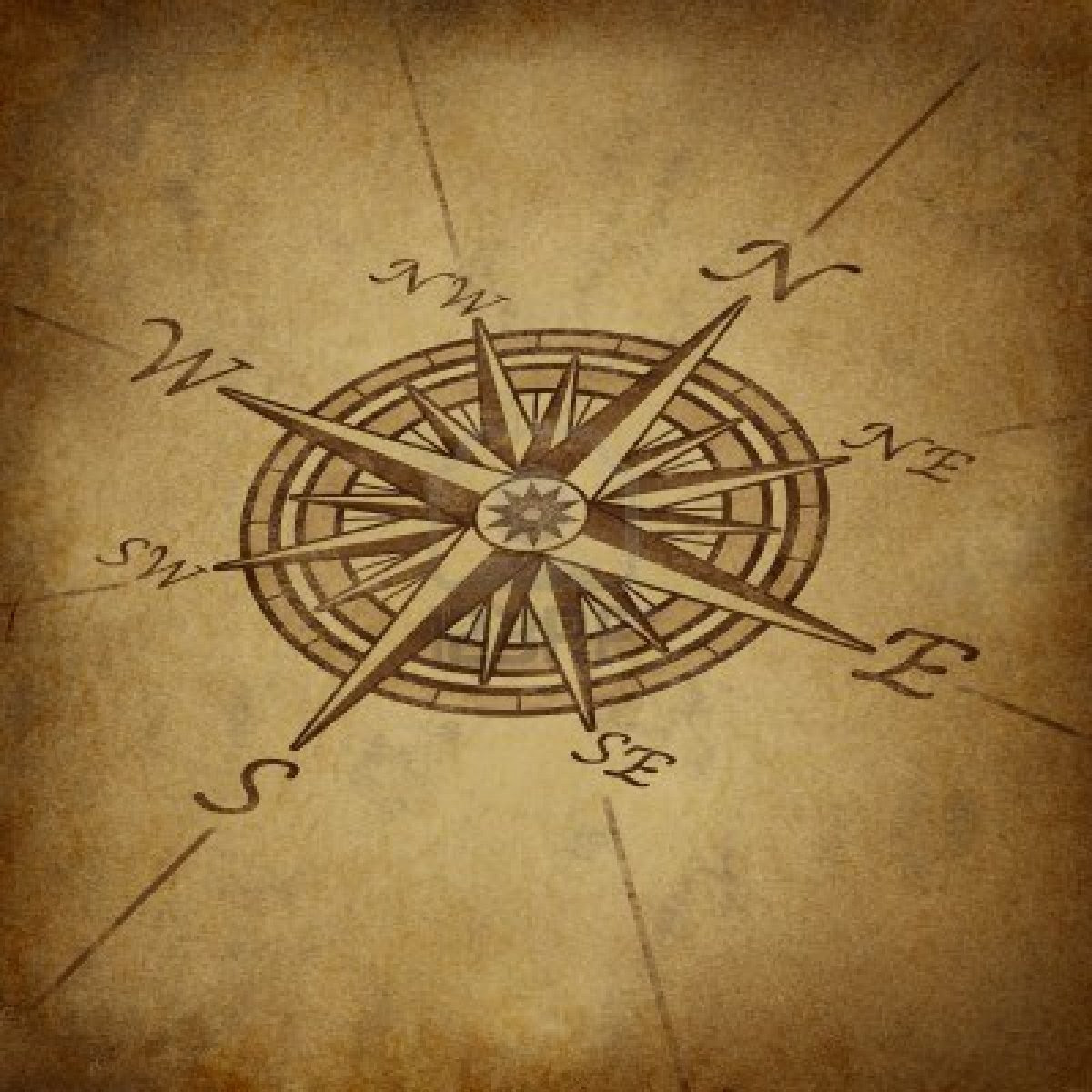 Old Compass Drawing At Getdrawingscom Free For Personal Use Old