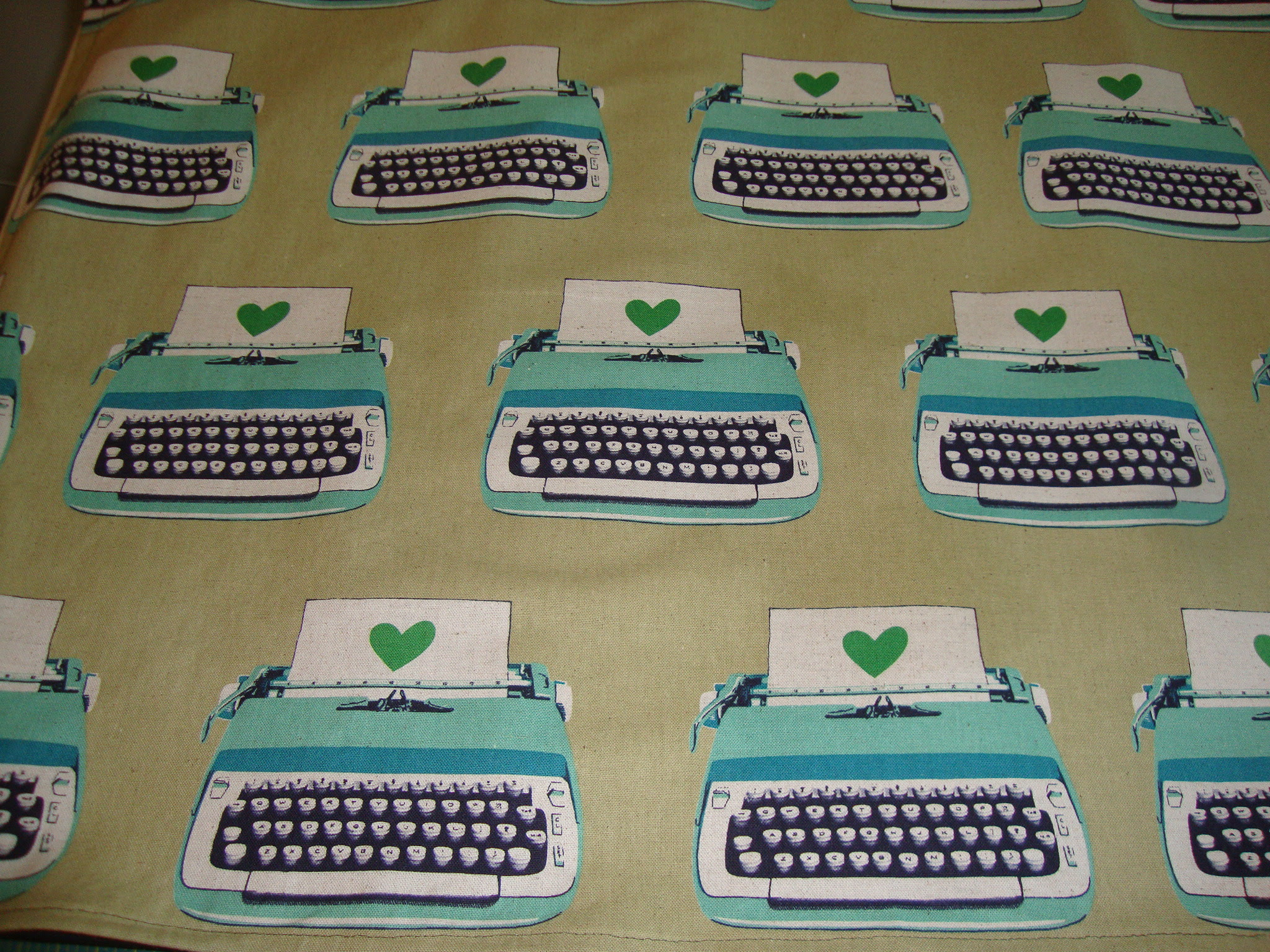 typewriter fabric from WhipStitch Atlanta (now an apron for my mom)