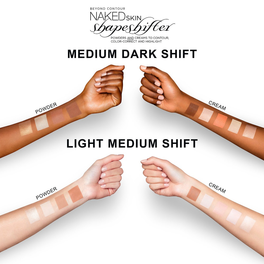 Urban Decay Naked Skin Shapeshifter Swatches