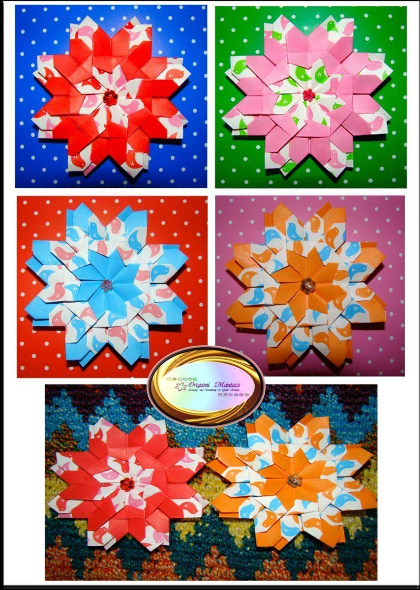 Hermosas Mandalas De Origami Manualidades