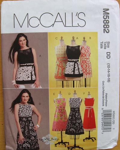 McCalls 5882 pattern envelope
