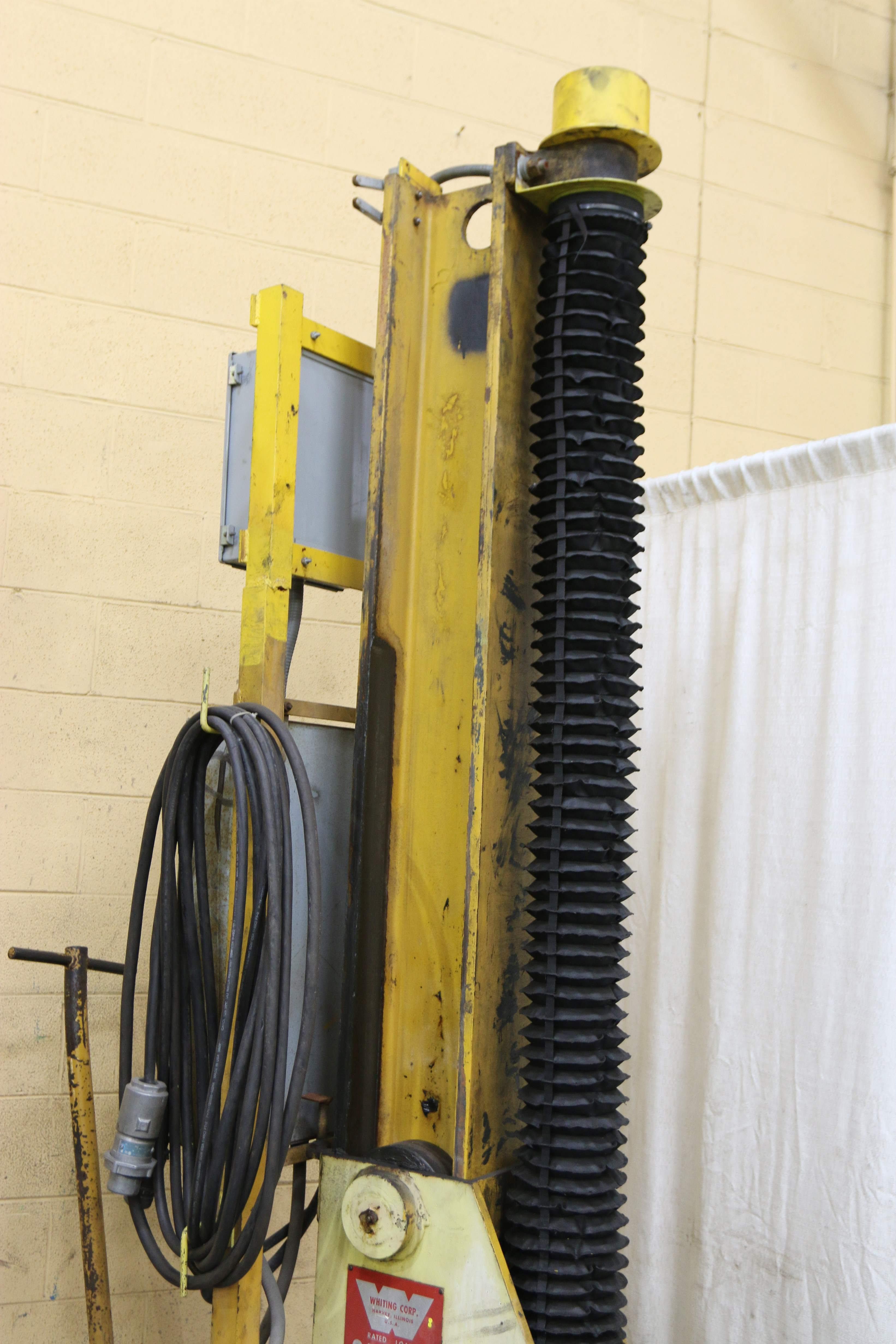 Set Of 4 35 Ton Whiting Portable Electric Rail Car Jacks Stock 70448