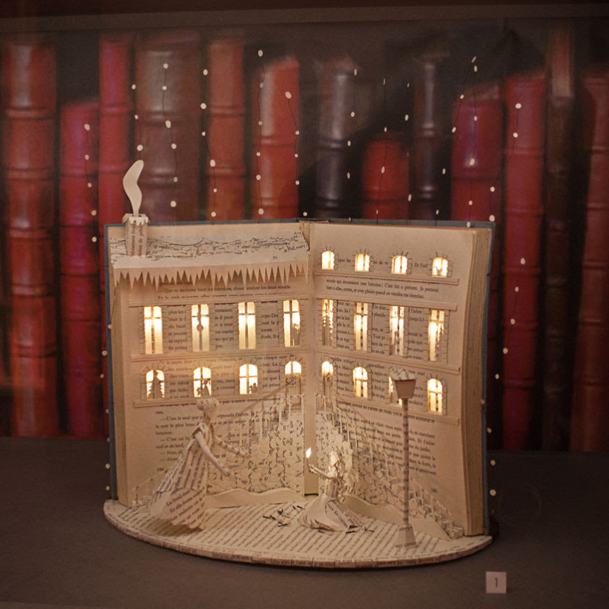 The Little Match Girl - Handmade Book Sculpture By Karine Diot