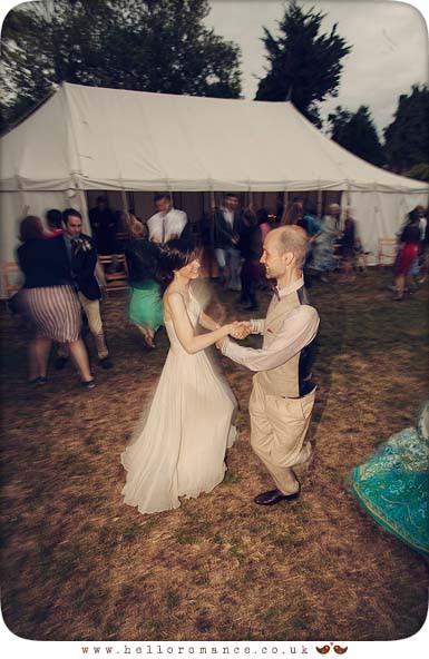 Céilidh dancing at wedding outdoors Suffolk - Hello Romance