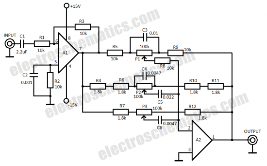 Band Equalizer Schematic on car audio 31, w2ihy 2,