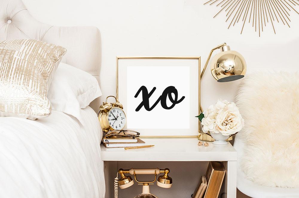 Free Printable: xo - Gold Standard Workshop