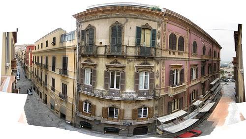 Cagliari desde la habitación del Hotel