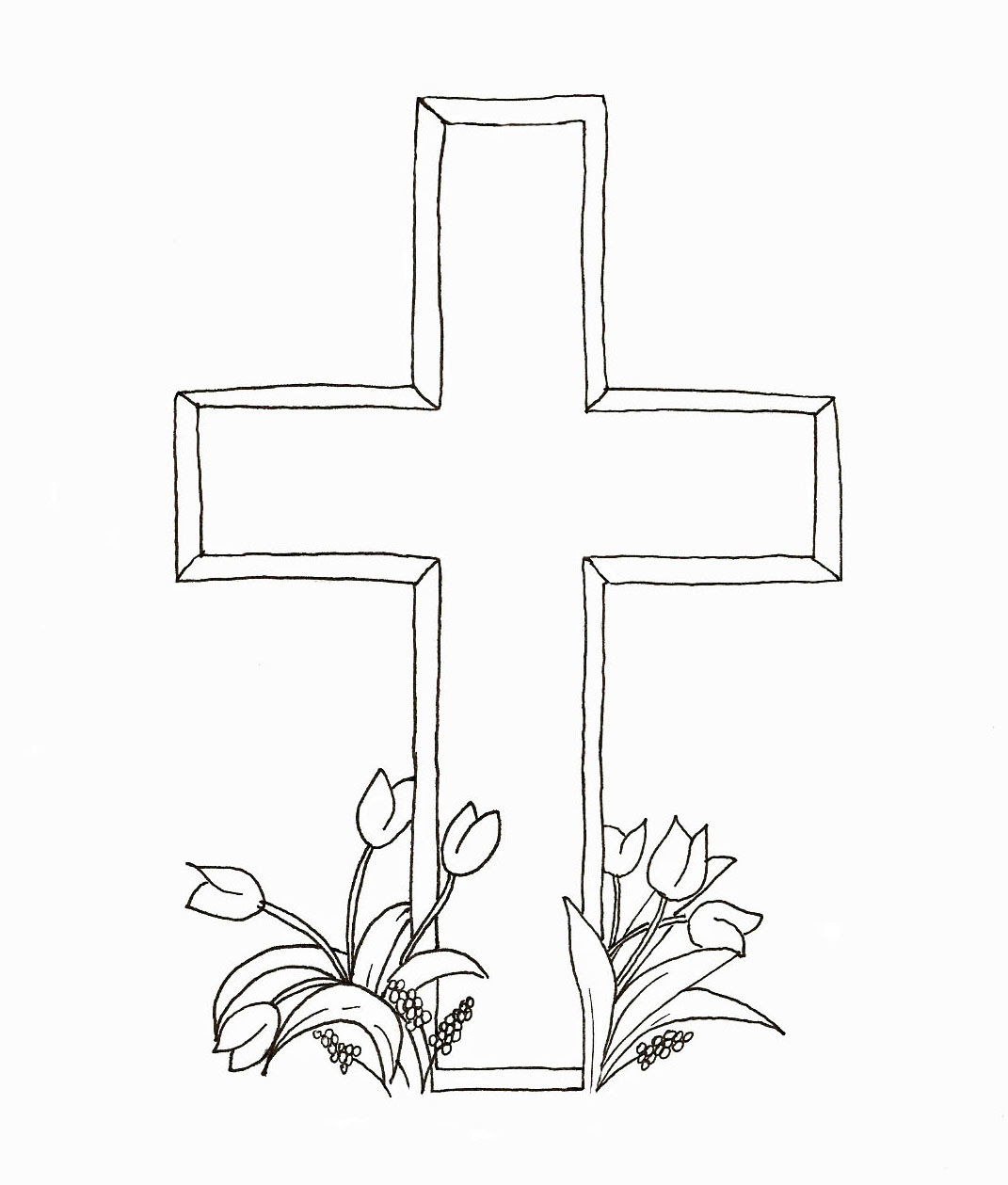 Easter Cross Drawing at GetDrawings | Free download