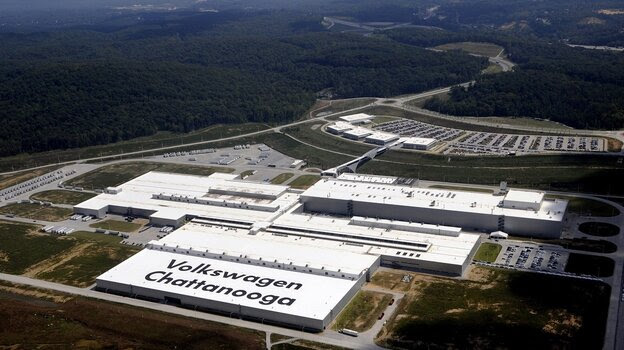 Volkswagen's car plant in Chattanooga, Tenn., is the company's only one in the U.S. It's also the only VW plant around the world without a workers union.