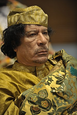 Muammar al-Gaddafi at the 12th AU summit, Febr...