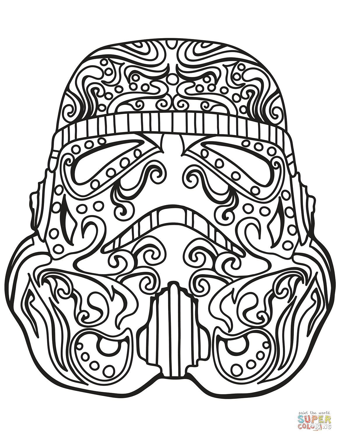 Star Wars Stormtrooper Sugar Skull coloring page | Free ...