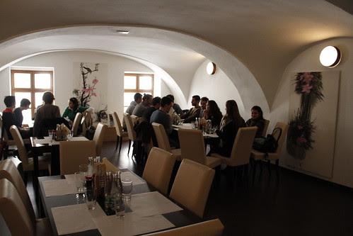 People getting seated in Tokyo Sushi Bar of Bratislava