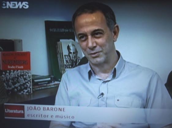 João Barone no programa Globo News Literatura.