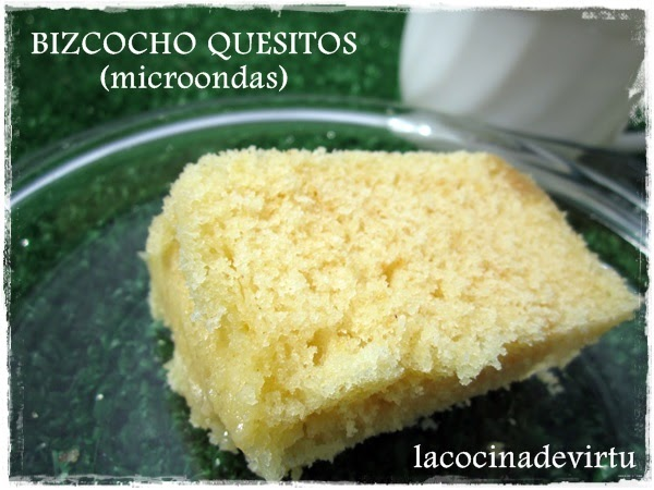 La cocina de virtu bizcocho quesitos a la miel microondas - Bizcocho microondas 3 minutos ...