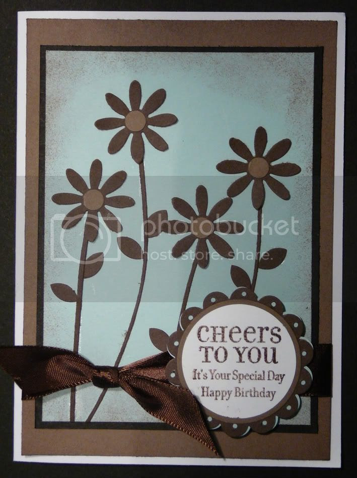 Flower craft punch card using Stampin' Up set Lots of Thoughts