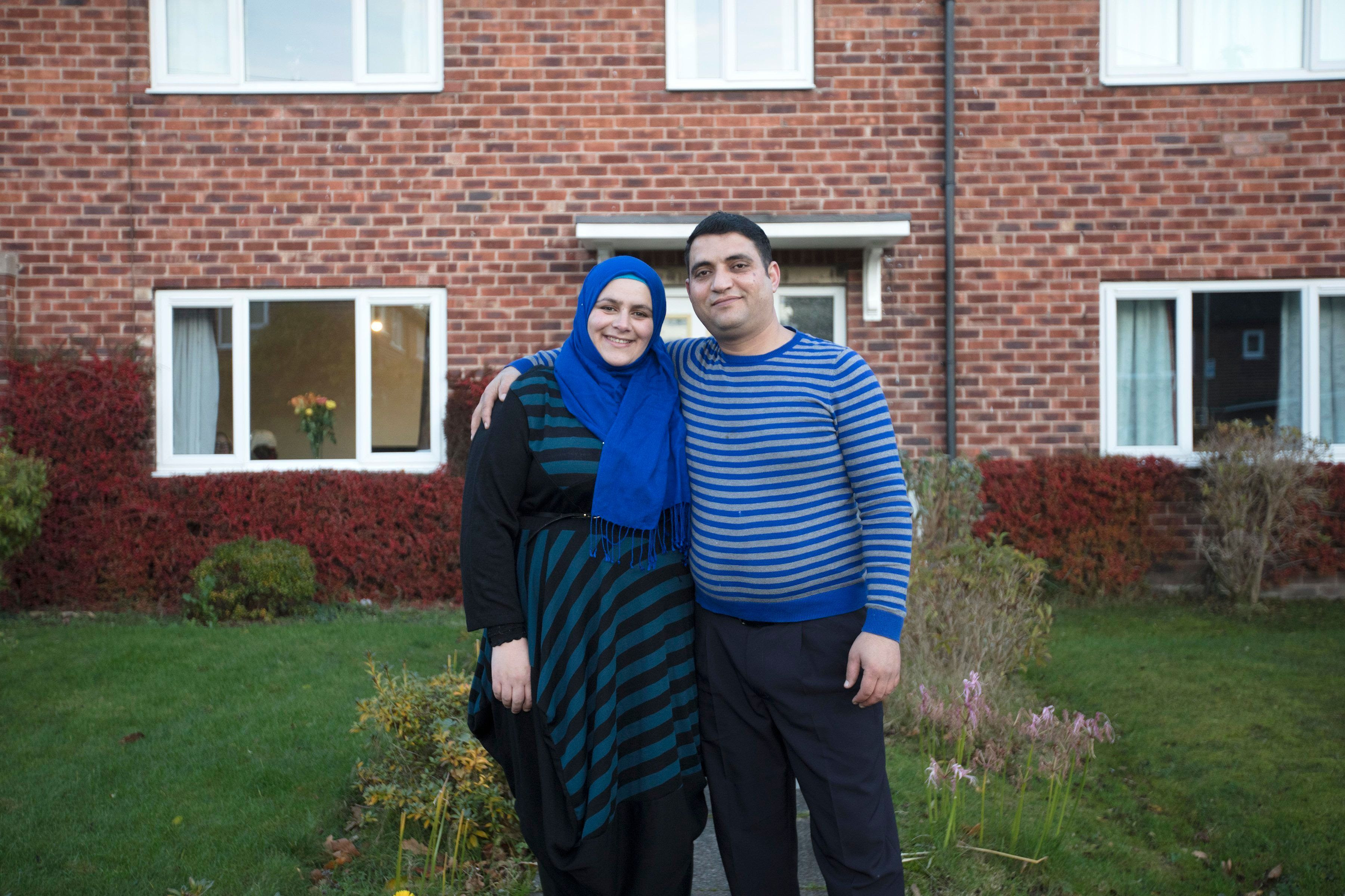 <strong>The families are among the first on the resettlement scheme to be interviewed and photographed.</strong>