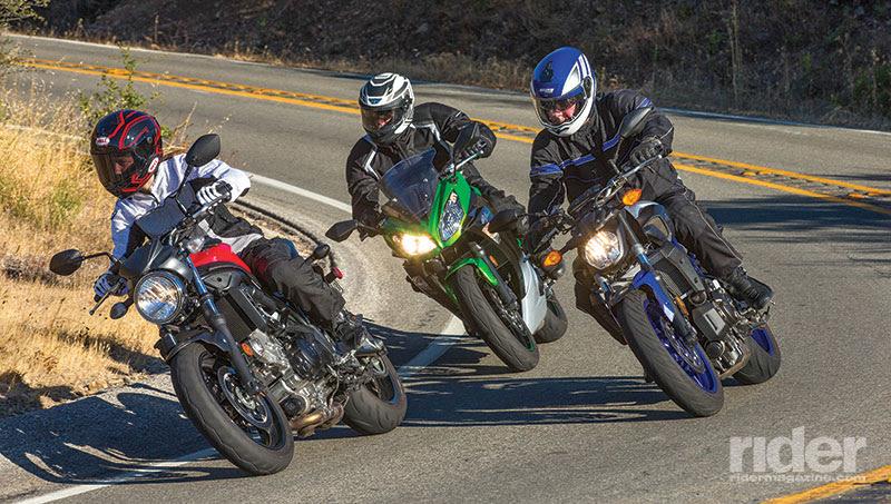 Rider Comparison Review Ninja 650 Vs Sv650 Vs Fz 07