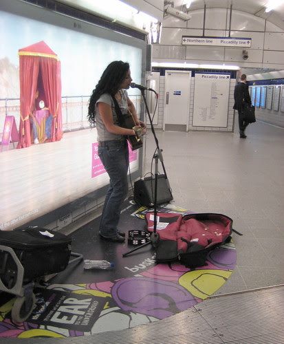 Hadar Queen of the Underground Busking at Leicester Square 2