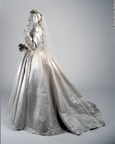 The Pelisse: 1866 Wedding Dress