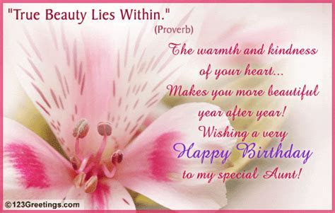 'True Beauty Lies Within'. Free Extended Family eCards