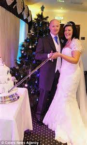 Wacky couple celebrate their wedding with a ceremony
