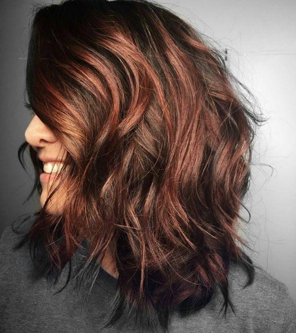 Verschiedene Haarfarben Mit Rote Strähnchen