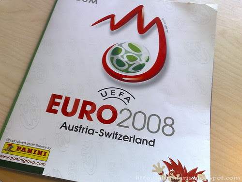 Panini sticker album Euro 2008