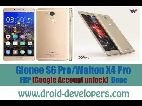 Gionee S6 Pro/Walton X4 Pro FRP ( Google Account unlock)  Done