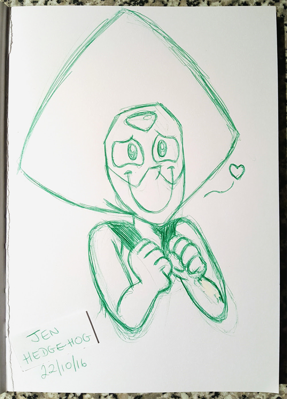 Just a quickie for Inktober, after watching Barn Mates again today (for like the millionth time). I'm still not over the look that Peridot gave to Lapis in that episode. I mean, seriously, she's never...