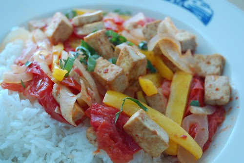 Tofu and Tomato Stir Fry