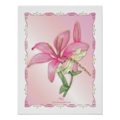 Lily Pink print
