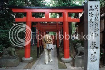 Torii d'entrada al petit santuari shinto