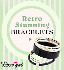 <link>Free Shipping!</link> Even Under $5 + Priority Dispatch for Hundreds of Retro Stunning Bracelets at Rosegal.