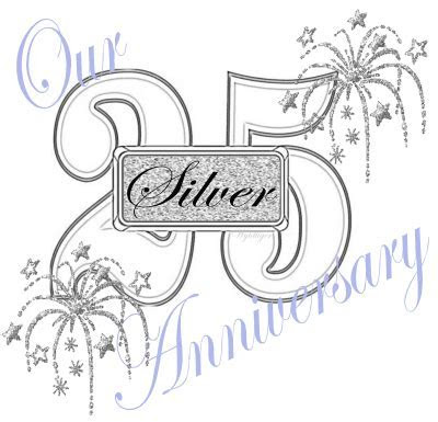 Silver wedding anniversary clipart   Clipground
