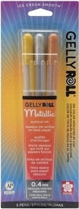 Sakura METALLIC GELLY ROLL 3 Pack Medium Point Pens 57387
