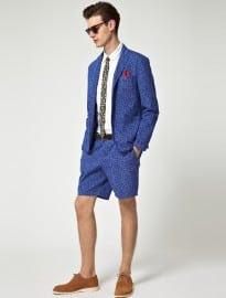 Asos Slim Fit Leopard Short Suit